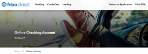 FNBO Direct Online Checking Account
