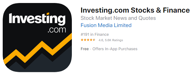 Investing.com Stocks & Finance app