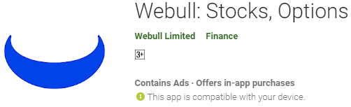 Webull: Stocks, Options and ETF app
